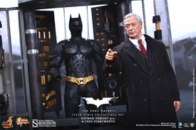 Batman Dark Knight Rises Hot Toys 1/6 Scale Collectible Figure Set Batman Armory, Alfred & Batman Pre-Order ships October