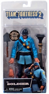 NECA Team Fortress 2 BLU Series 2 Action Figure Soldier [In Game Virtual Item Redemption Code!]
