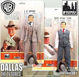 Dallas 12 Inch Series 1 Action Figure Set JR Ewing & Oil Tycoon JR Ewing Pre-Order ships April