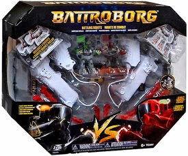 Battroborg Battling Robot Arena Military Vs. Red