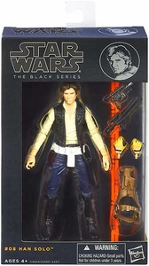 Star Wars Black 6 Inch Series 2 Action Figure Han Solo [Episode IV] New!