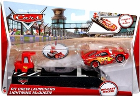 Disney / Pixar CARS Movie Pit Crew Launchers 1:55 Die Cast Racer Lightning McQueen & Pitty
