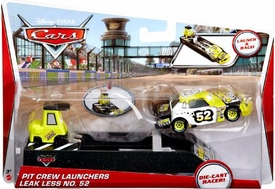 Disney / Pixar CARS Movie Pit Crew Launchers 1:55 Die Cast Racer Leak Less No. 52 & Pitty