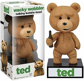 Ted Movie Talking Wacky Wobbler Bobble Head Ted New!