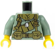 Citizen Brick Custom Printed Custom Printed LOOSE Sand Green US Vietnam Era Grunt Torso
