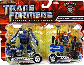 Transformers 2: Revenge of the Fallen Movie Exclusive Global Alliance 2-Pack Beachcomber & Deadlift [Road Rival Showdown]