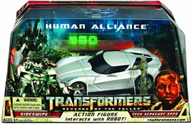 Transformers 2: Revenge of the Fallen Movie Human Alliance Sideswipe with Sargent Epps