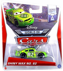 Disney / Pixar CARS Movie 1:55 Die Cast Car MAINLINE World of Cars Race Shiny Wax No. 82 [Piston Cup 11/16]