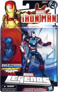 Iron Man 3 Marvel Legends Series 2 Action Figure Movie Iron Patriot [Build Iron Monger Piece!]