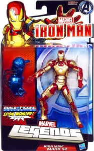 Iron Man 3 Marvel Legends Series 2 Action Figure Iron Man Mark XLII [Build Iron Monger Piece!]