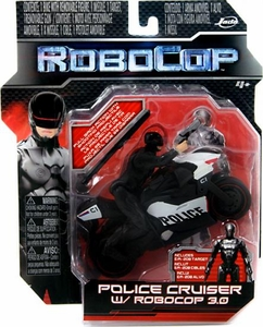 Robocop Jada Toys 4 Inch Pullback Cycle Police Cruiser with Robocop 2.0 Figure New!