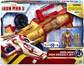 Iron Man 3 Movie Exclusive Concept Series Vehicle & Figure 2-Pack Iron Man with Iron Assault Jet