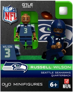 OYO Football NFL Building Brick Minifigure Russell Wilson [Seattle Seahawks]