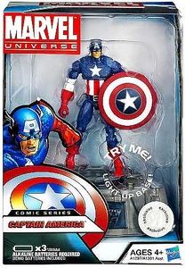 Marvel Universe Exclusive Comic Series Figure With Light Up Base Captain America [Steve Rogers]