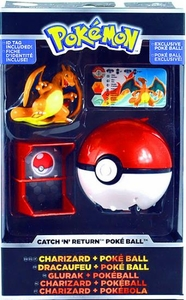 Pokemon TOMY Trainer's Choice Catch 'n' Return Poke Ball Charizard & Poke Ball