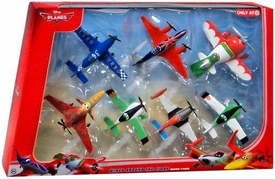 Disney PLANES Exclusive 1:55 Die Cast 7-Pack Wings Around the Globe [Arturo, Zed, Super Charged Dusty, Ned, Ishani, Bulldog & El Chupacabra]