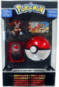 Pokemon TOMY Trainer's Choice Catch 'n' Return Poke Ball Infernape & Poke Ball