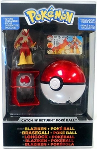 Pokemon TOMY Trainer's Choice Catch 'n' Return Poke Ball Blaziken & Poke Ball