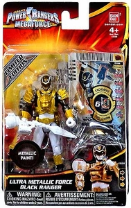 Power Rangers Megaforce Basic Action Figure Ultra Metallic Force Black Ranger
