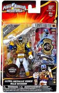 Power Rangers Megaforce Basic Action Figure Ultra Metallic Force Blue Ranger