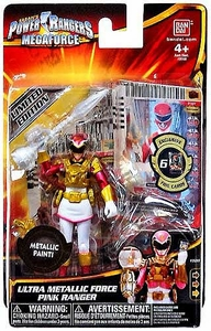 Power Rangers Megaforce Basic Action Figure Ultra Metallic Force Pink Ranger