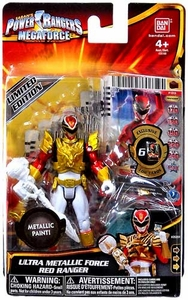 Power Rangers Megaforce Basic Action Figure Ultra Metallic Force Red Ranger