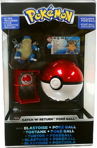 Pokemon TOMY Trainer's Choice Catch 'n' Return Poke Ball Blastoise & Poke Ball