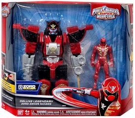 Power Rangers Super Megaforce Vehicle & Action Figure Deluxe Legendary Zord Armor Ranger