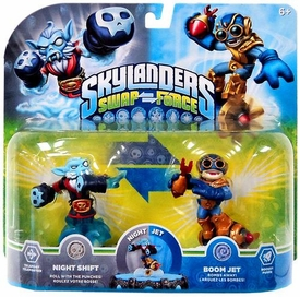 Skylanders SWAP FORCE Exclusive Swappable Figure 2-Pack Night Shift & Boom Jet BLOWOUT SALE!