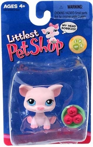 Littlest Pet Shop Exclusive Single Pack Figure Pig with Bowl of Apples
