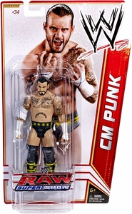 Mattel WWE Wrestling Basic Series 18 Action Figure #34 CM Punk