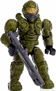 Halo Wars Mega Bloks LOOSE Mini Figure UNSC Green Spartan Operator [Series 8]