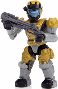 Halo Wars Mega Bloks LOOSE Mini Figure UNSC Yellow Spartan Air Assault  [Series 8]