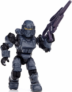 Halo Wars Mega Bloks LOOSE Mini Figure UNSC Blue Steel Spartan Soldier  [Series 8]