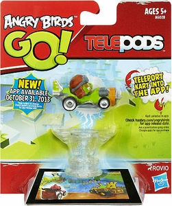 Angry Birds GO! Telepods Kart Series 1 Green Pig with Aviator Cap