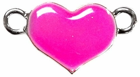 Undee Bandz Rubbzy Enamel Glow-in-the-Dark Rubber Band Bracelet Charm Pink Heart BLOWOUT SALE!