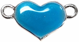 Undee Bandz Rubbzy Enamel Glow-in-the-Dark Rubber Band Bracelet Charm Blue Heart BLOWOUT SALE!