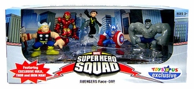 Marvel Superhero Squad Exclusive Mini Figure 5-Pack Avengers Face-Off [Hulk, Iron Man, Captain America, Wasp & Thor]