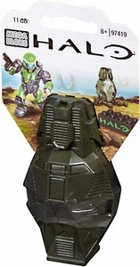 Halo Wars Mega Bloks Set #97419 Metallic ODST Drop Pod [Green UNSC Soldier]