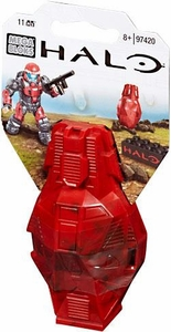 Halo Wars Mega Bloks Set #97420 Metallic ODST Drop Pod [Red UNSC Soldier]