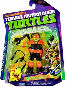 Nickelodeon Teenage Mutant Ninja Turtles Basic Action Figure Stealth Tech Michelangelo [with Zip Line]