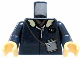 LEGO LOOSE Torso Dark Blue Winter Coat with Fur Collar & Binoculars