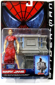 Spider-Man Movie ToyBiz Action Figure Mary Jane [Break Away Balcony] Damaged Package, Mint Contents!