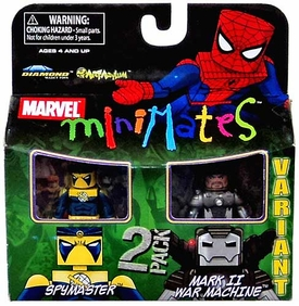 Marvel MiniMates Series 23 Mini Figure 2-Pack Spymaster & Mark II War Machine
