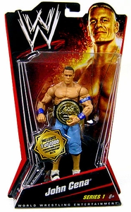 Mattel WWE Wrestling Basic Series 1 Action Figure John Cena [Commemorative Championship Belt]