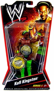 Mattel WWE Wrestling Basic Series 1 Action Figure Kofi Kingston [Commemorative Championship Belt] Only 1,000 Made!