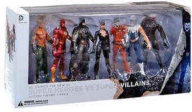 DC Collectibles New 52 Action Figure 7-Pack Heroes Vs. Super Villains
