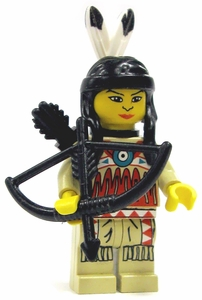 LEGO Western LOOSE Mini Figure Indian Woman with Bow