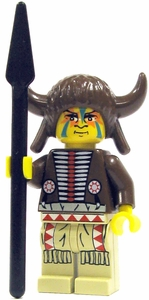 LEGO Western LOOSE Mini Figure Indian Medicine Man with Spear