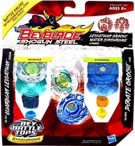 Beyblades Shogun Steel 2-Pack Leviathan Orochi Water Synchrome [SS-101 Guardian Leviathan A230JSB & SS-08A Pirate Orochi 145SD]